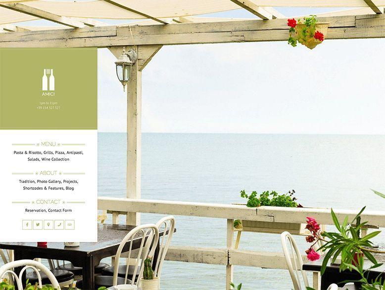 Amici - Plantilla WordPress para restaurantes elegantes