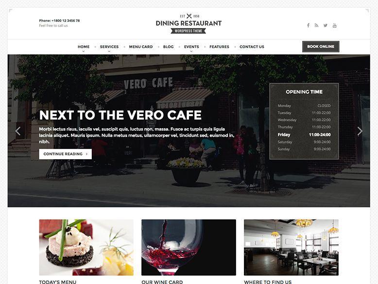Dining - Plantilla WordPress para restaurantes