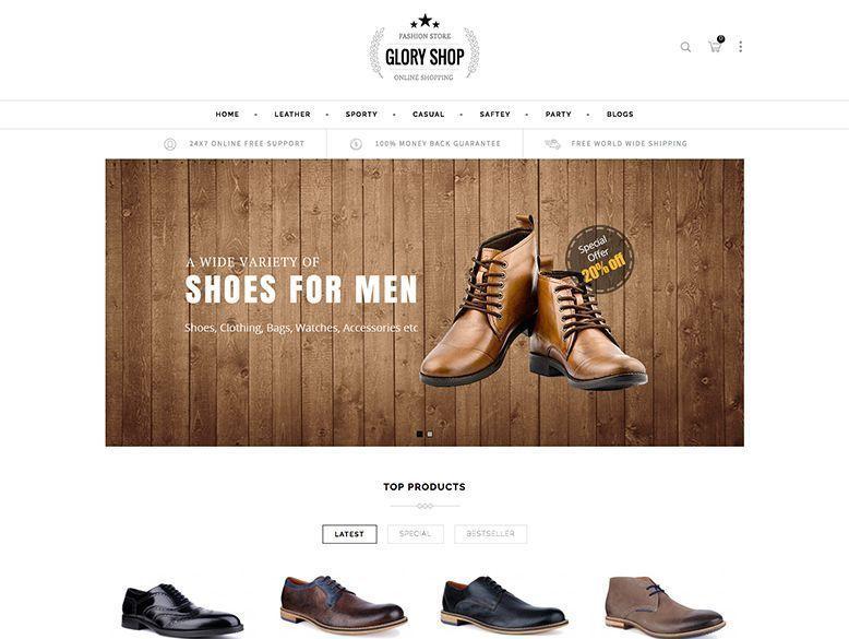 Glory Shop - Plantilla OpenCart para tiendas virtuales