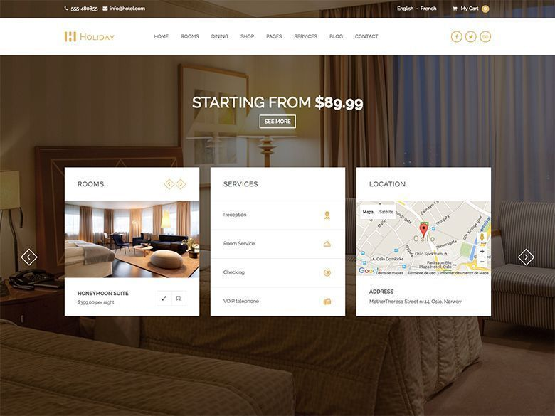 Holiday - Tema WordPress para hoteles y hostales