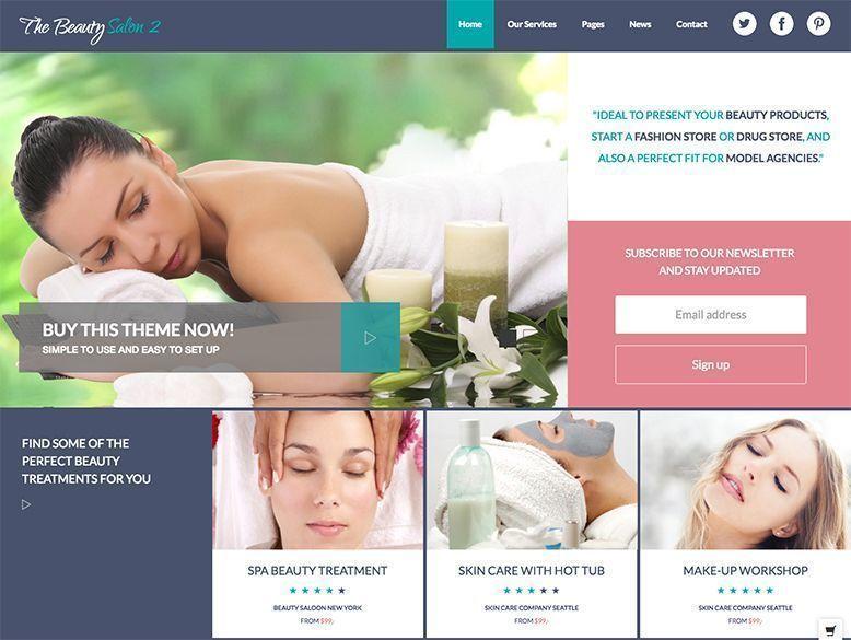 Beauty Salon 2 -Plantilla WordPress para salones de belleza, spas y balnearios