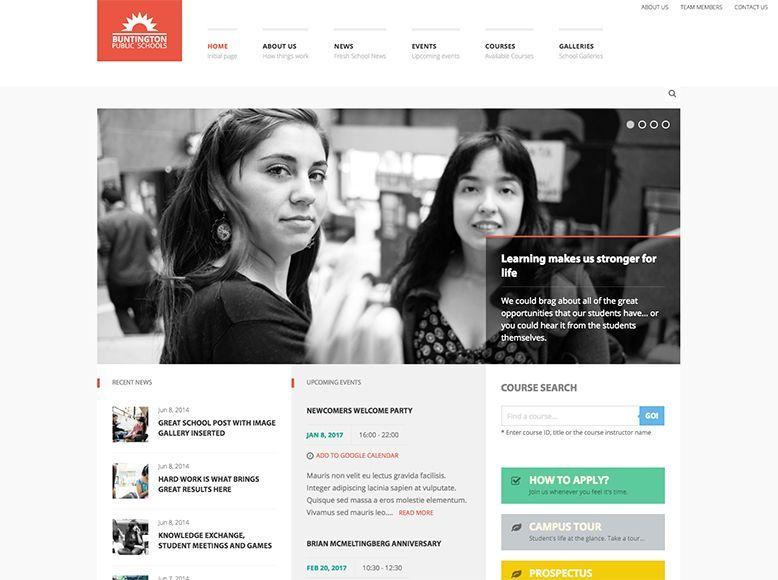 Buntington - Tema WordPress para universidades, escuelas y colegios