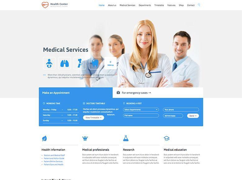 Medical Health - Plantilla WordPress para centros de salud y médicos