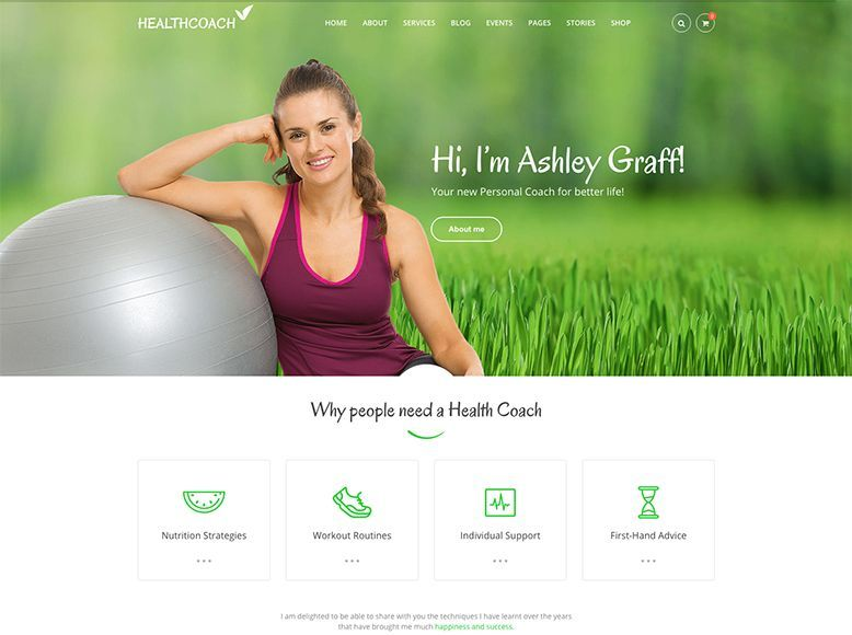 Health Coach - Tema WordPress para coaching de salud y nutricionistas