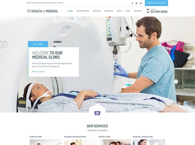 Health & Medical - Tema WordPress para centros de salud y hospitales