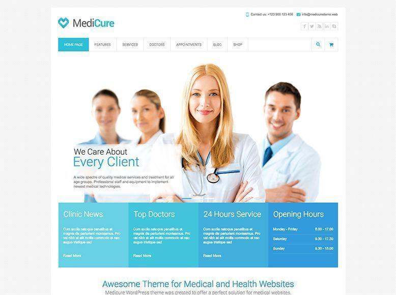 Medicure - Plantilla WordPress para centros médicos y pediatras