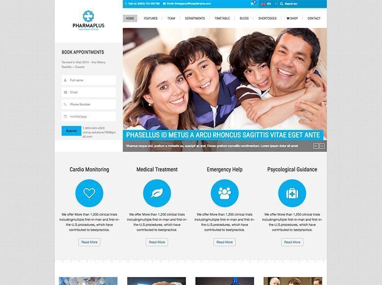 PharmaPlus - Plantilla WordPress para farmacias y parafarmacias