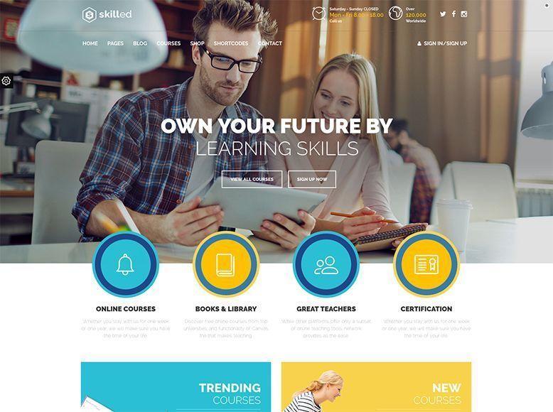 Skilled - Plantilla WordPress para colegios, academias y escuelas de formación