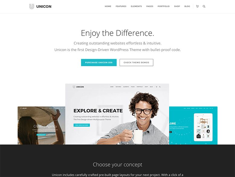 Unicon - Tema WordPress para empresas y agencias
