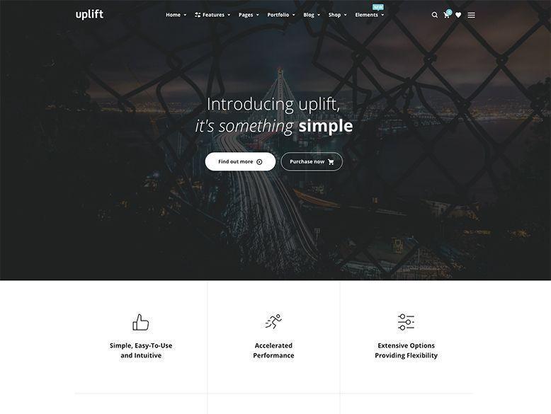 Uplift - Plantilla WordPress para startups de tecnología y empresas vanguardistas