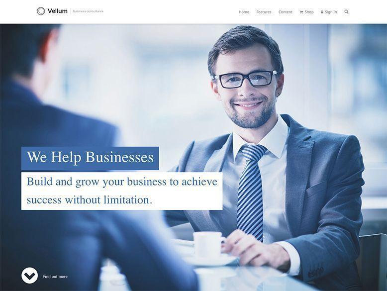 Vellum - Plantilla WordPress para empresas corporativas y startups