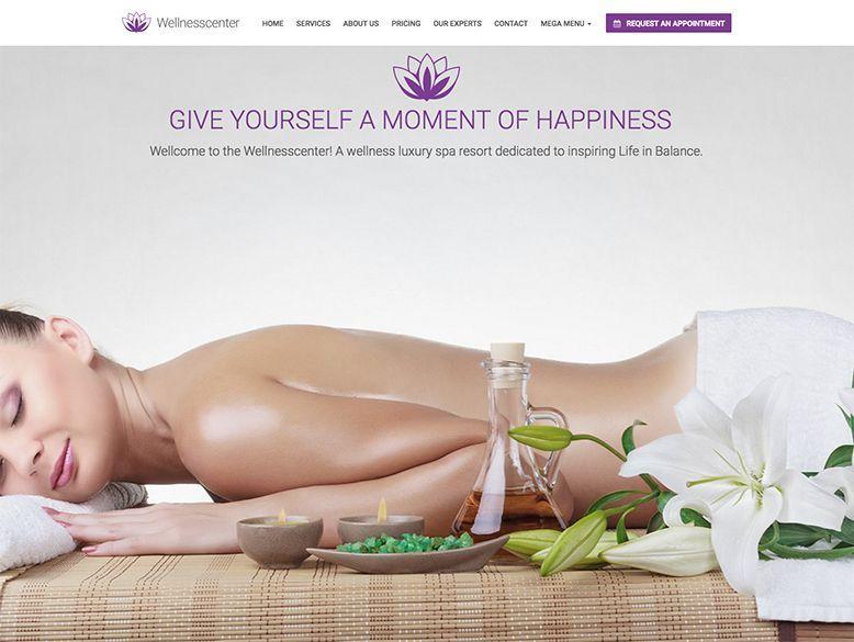 Wellness Center - Plantilla WordPress para centros de spa y balnearios