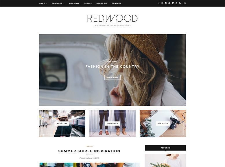 RedWood - Tema WordPress para revistas y blogs personales