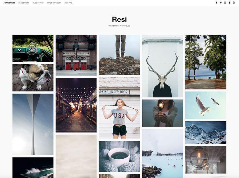 Resi - Plantilla WordPress gratis para blogs y portafolios