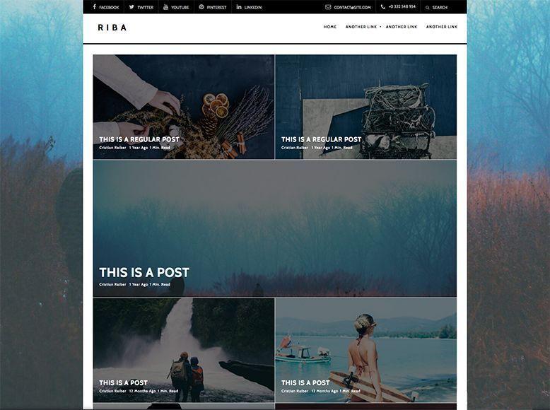 Riba - Plantilla WordPress gratis para blogs y revistas