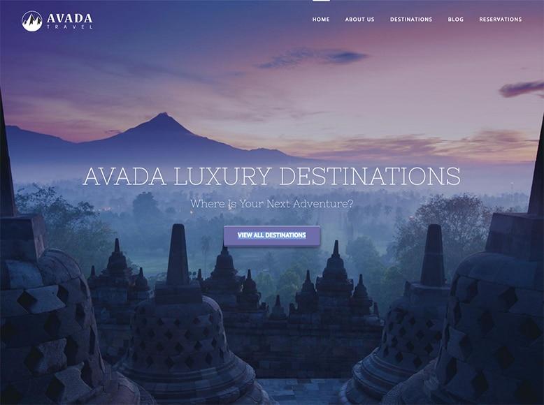Avada - Tema WordPress para agencias de viajes y empresas de turismo