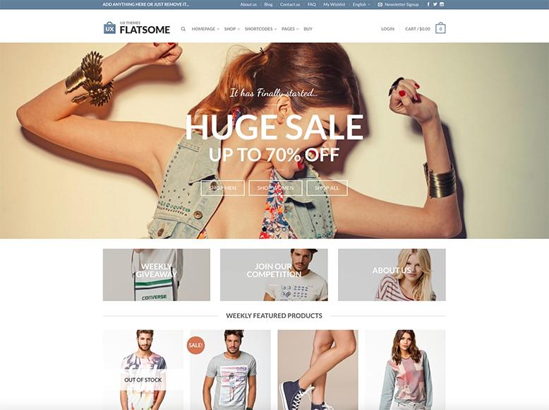 Flatsome - Plantilla WordPress para tiendas online de moda y complementos