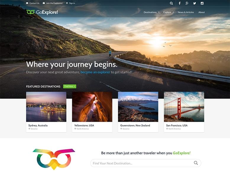 GoExplore! - Tema WordPress para sitios y blogs de viajes