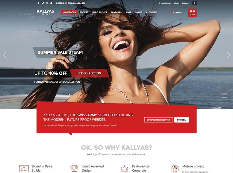 Kallyas - Tema WordPress multipropósito para empresas, agencias y startups