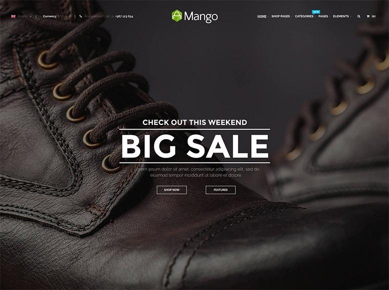 Mango - Plantilla WordPress para tiendas WooCommerce y tiendas multivendedores