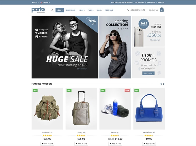 Porto - Tema WordPress para tiendas online con WooCommerce