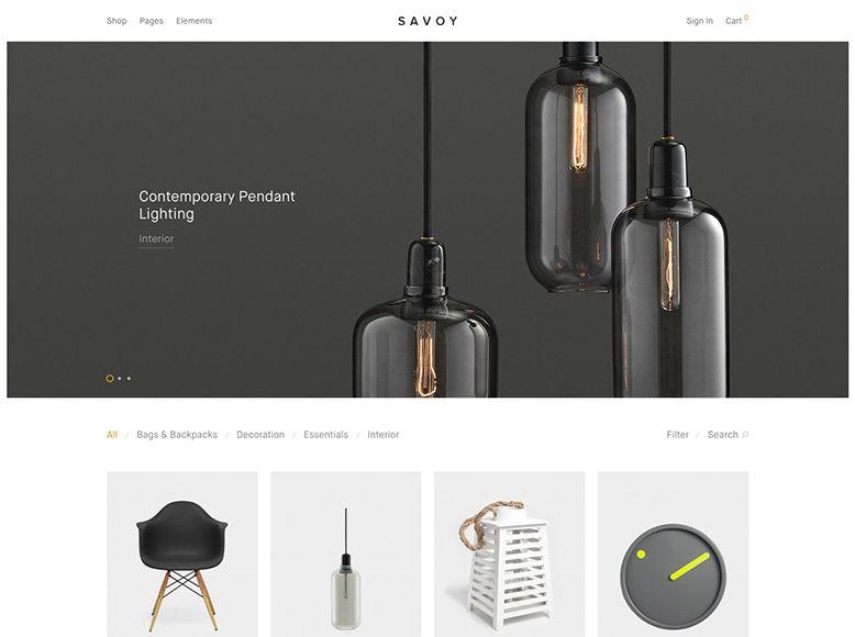 Savoy - Plantilla WordPress para tiendas virtuales con WooCommerce