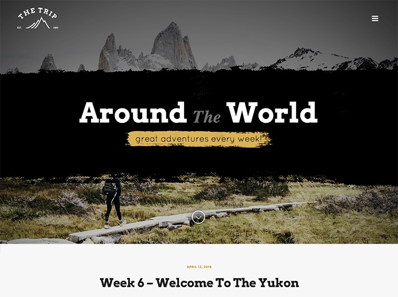 The Trip - Tema WordPress para blogs de viajes y de empresas que organizan tours