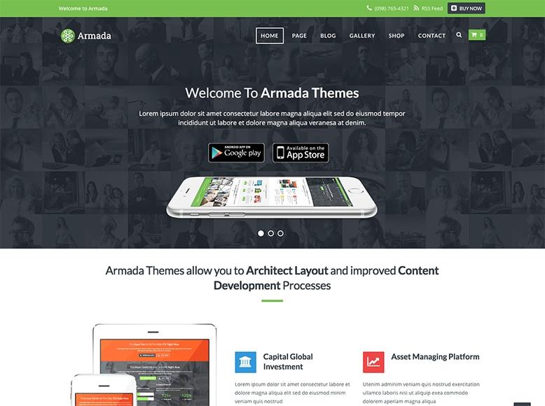Armada - Plantilla WordPress para agencias de Marketing y startups