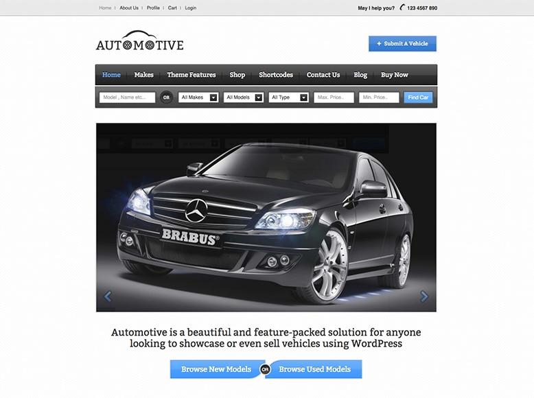 Automotive - Plantilla WordPress para directorios de venta de coches
