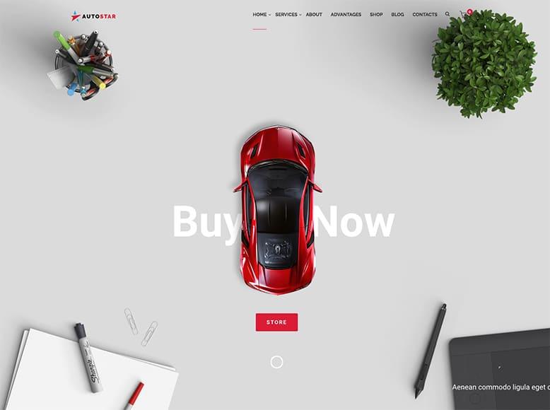 Autostar - Plantilla WordPress para concesionarios de coche y venta de vehículos