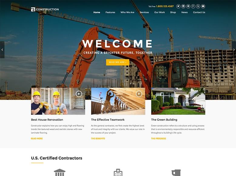 WP Construction - Plantilla WordPress para empresas de construcción y reformas