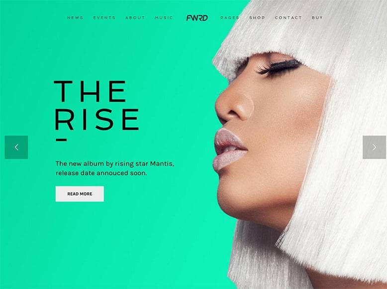 FWRD - Plantilla WordPress para sitios web de artistas musicales, DJs, solistas