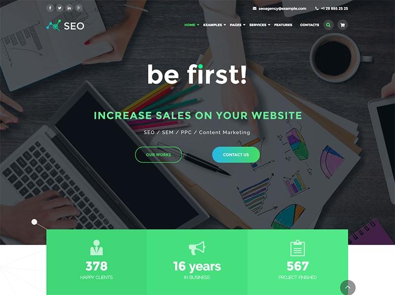 The SEO - Plantilla WordPress para agencias de Marketing Digital y SEO