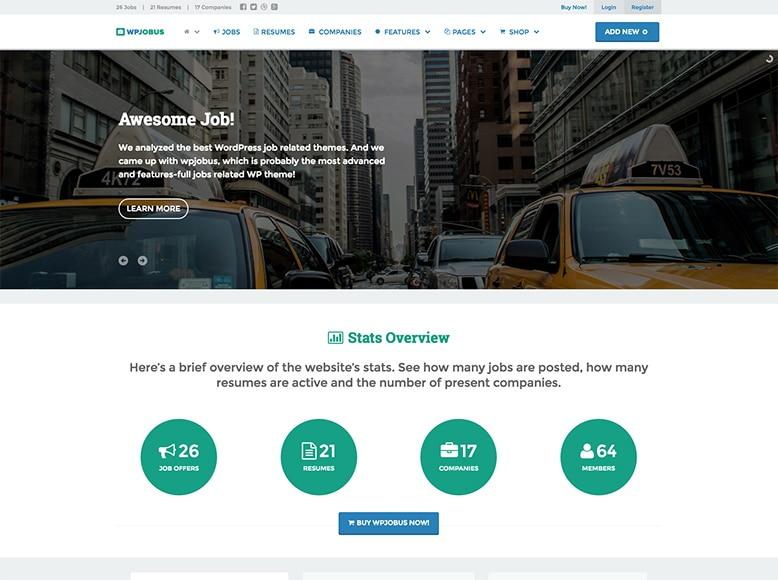 WPJobus - Plantilla WordPress para directorios de ofertas de trabajo