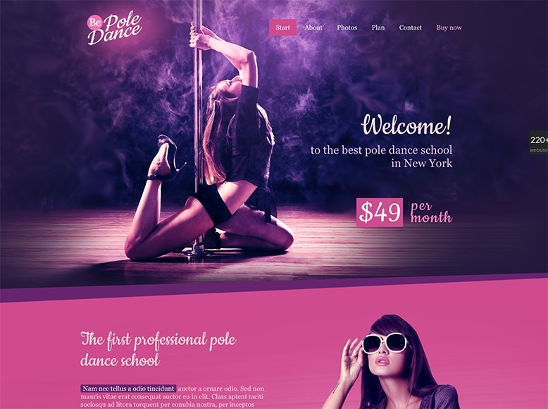 BeTheme - Plantilla WordPress para escuelas y academias de baile y danza, bailes latinos