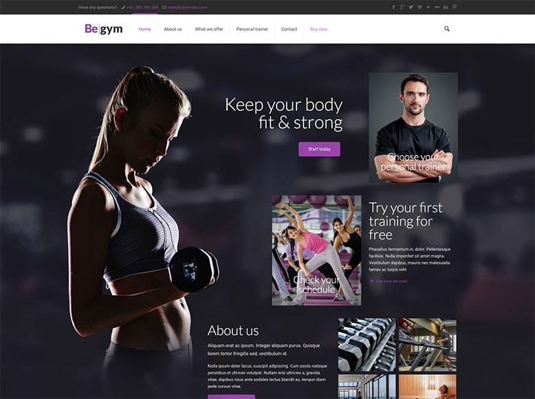 Be Theme - Plantilla WordPress para pequeños gimnasios, centros deportivos, salas de fitness