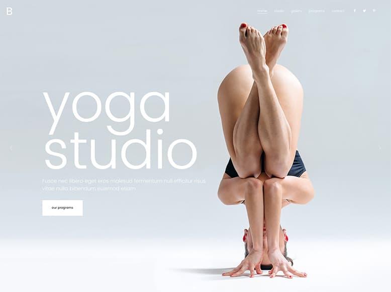 Bridge - Tema WordPress para estudios de yoga y clases de meditación