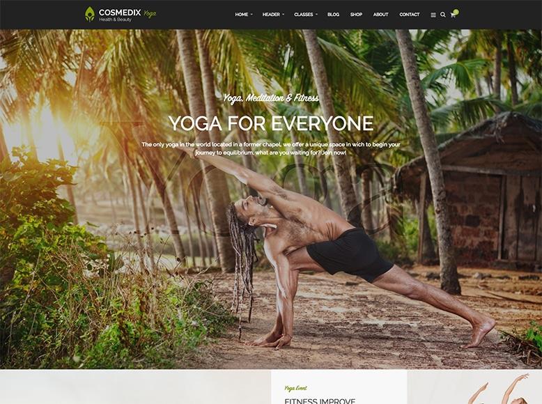 Cosmedix - Tema WordPress para centros de yoga, pilates, gimnasios y entrenadores personales