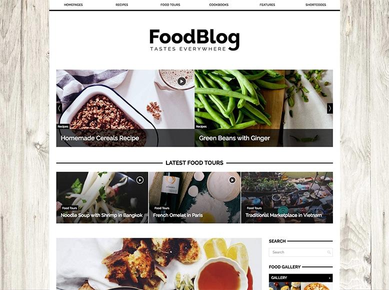 GDN - Tema WordPress para blogs de recetas de cocina