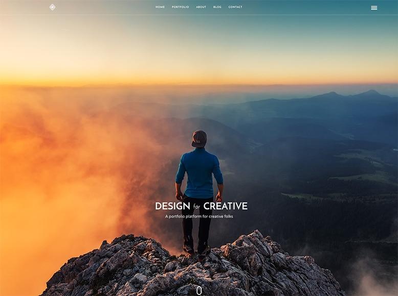 Grand Portfolio - Plantilla WordPress para portafolios creativos modernos y minimalistas