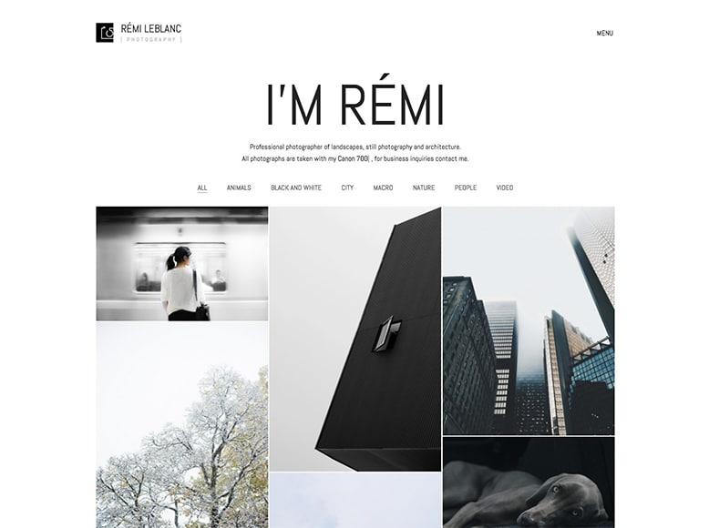 Kalium - Plantilla WordPress para portafolios de creativos, artistas y fotógrafos