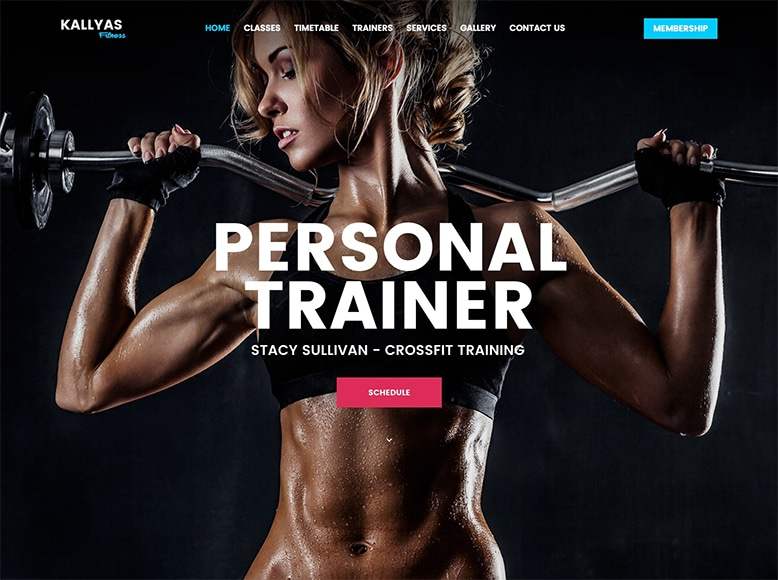 Kallyas - Tema WordPress para salas de fitness, gimnasios y centros deportivos