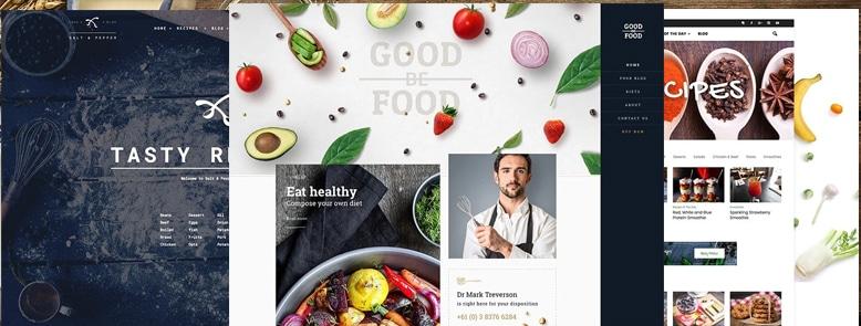 25+ Mejores Temas WordPress para Blogs de Recetas de Cocina 2017
