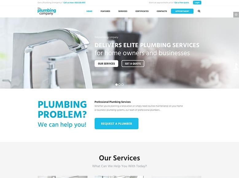 Plumbing - Plantilla WordPress para empresas de fontanería y reparaciones del hogar