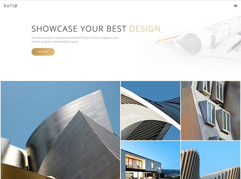 Ratio - Plantilla WordPress para portafolios de arquitectos, constructores e interioristas