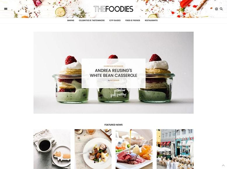 The Voux - Tema WordPress para blogs y revistas de recetas de cocina y gastronomía