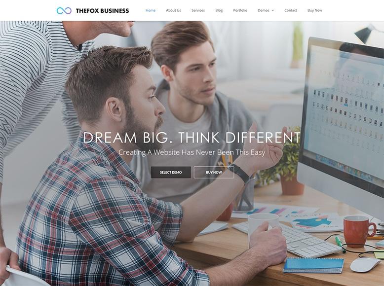 TheFox - Plantilla WordPress para startups, pequeñas empresas y agencias