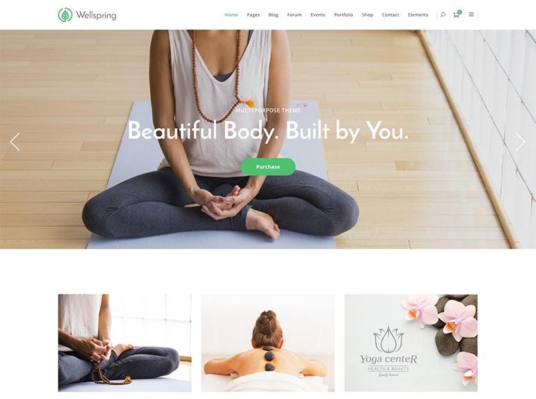 Wellspring - Plantilla WordPress para centros de yoga y pilates
