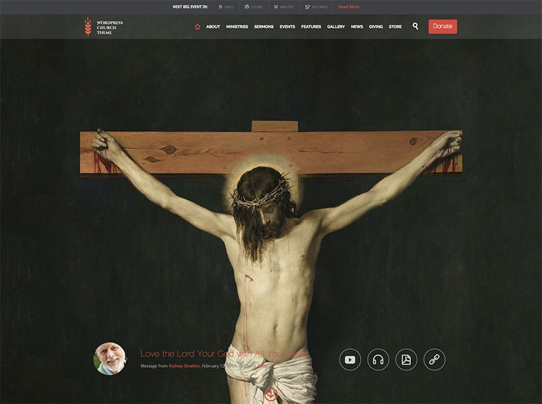 Church and Events - Plantilla WordPress para iglesias y eventos religiosos