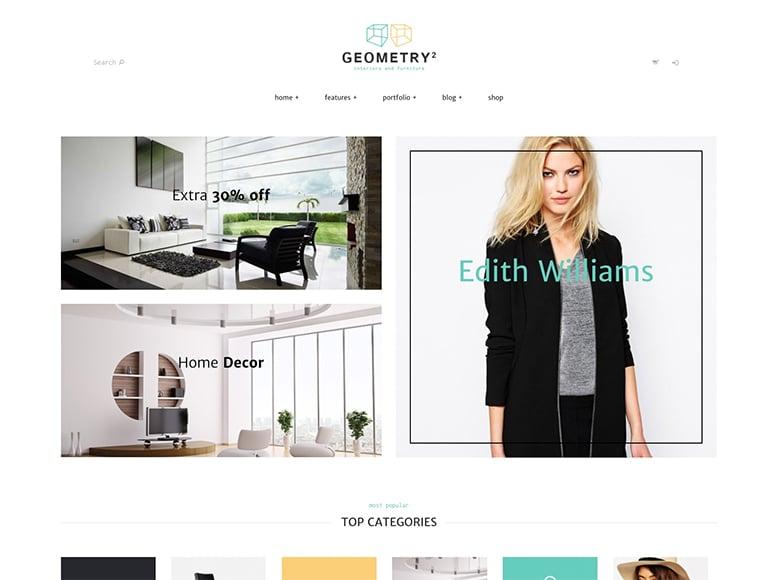 Geometry - Plantilla WordPress para arquitectos interioristas y estudios de diseño de interiores